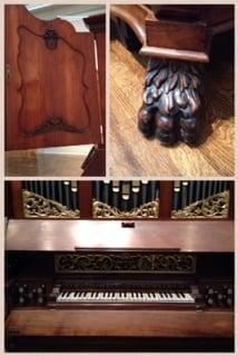Details on Cabinet Organ