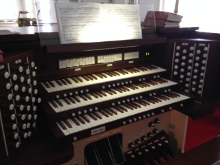 Allen Organ at St. Timothy's Episcopal Church, Toledo, OH.