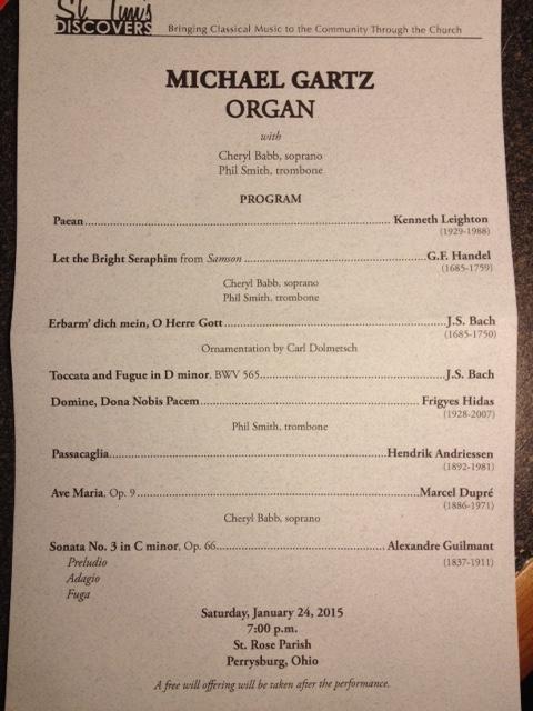 Michael Gartz St. Rose Organ Concert