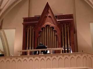 Michael Gartz plays the organ at St. Rose Catholic Church, Perrysburg, OH