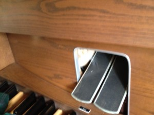 Expression pedals on my Saville organ