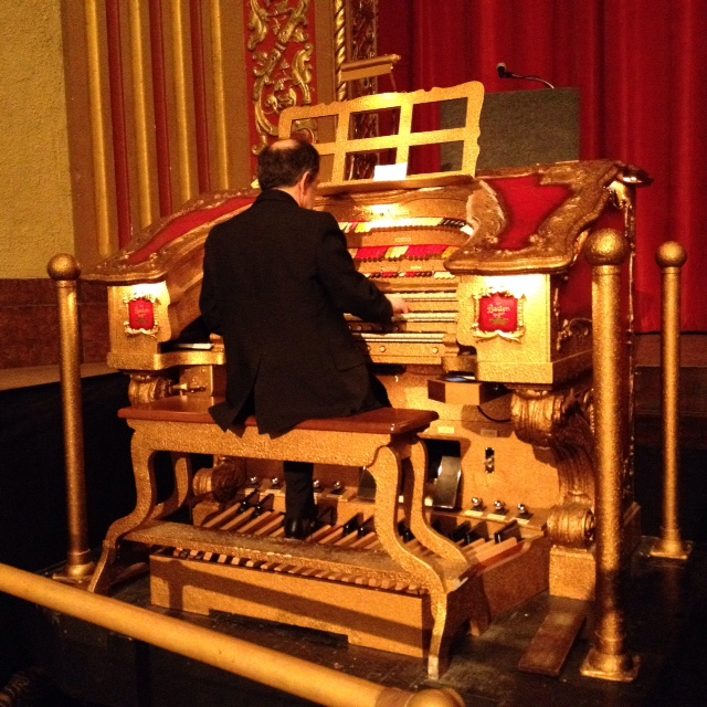 Andrew Rogers plays the Barton Organ prior to the start of the movie.