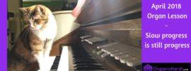 April 2018 Organ Lesson - Slow progress is still progress